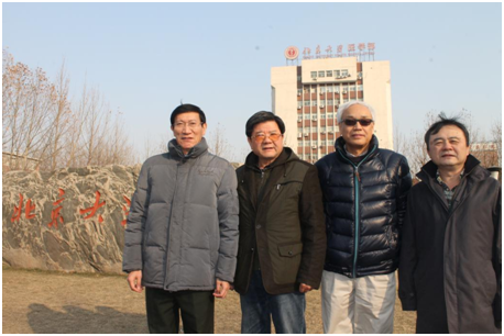 寻访团卞修武教授、丁彦青教授、丁华野教授、张波教授