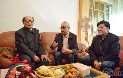 杭振镳教授及寻访团丁华野教授和丁彦青教授
